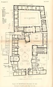 Hardwick Hall Floor Plan by College Buildings Brasenose College Archives And History