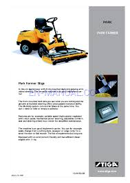 user u0027s manual for lawn mowers stiga park farmer 13 6133 36