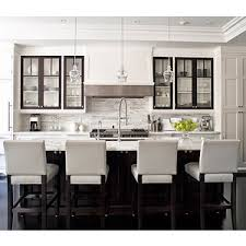 kitchens white leather stools espresso kitchen island marb