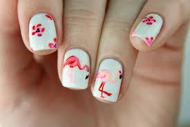 packapunchpolish flamingo u0026 floral nail art