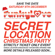 funkylove secret location christmas party tickets secret