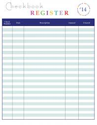 Check Register Template Excel Checks Template Excel Checkbook Register With Running Balance