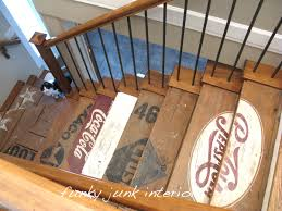 painted wooden crate stairs pastel colors pastels and basement