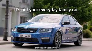 family car škoda octavia vrs not your everyday family car ad youtube