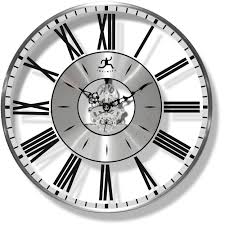 Small Decorative Wall Clocks Paragon Clock By Infinity Instruments Modern Transparent Dial