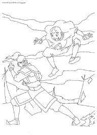 avatar airbender coloring pages wallpele coloring