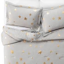 Jersey Comforters Jersey Stars Comforter Set Twin 2 Pc Gray U0026 Gold Pillowfort