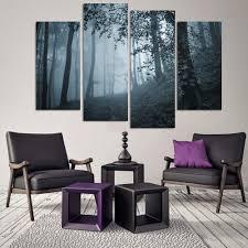 online shop deep jungle horror place 4 pieces sets canvas art