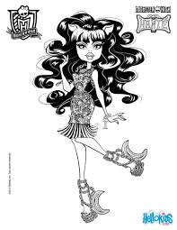 clawdeen wolf 2 coloring pages hellokids com