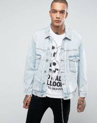 light blue denim jacket mens bershka oversized denim jacket in light blue oversized denim