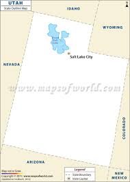 Map Of Nevada And Utah by Blank Map Of Utah Utah Outline Map