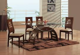 glass rectangular dining table set vecelo 5 piece glass dining