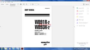 komatsu wb91r wb93r 2 shop manual auto repair manual forum