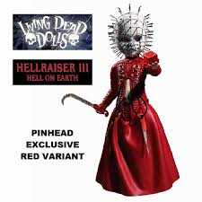 dead dolls hellraiser iii pinhead exclusive red variant from mezco