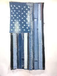 denim american flag handcrafted from denim jeans denim us
