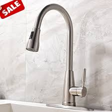 Kitchen Sink Faucets Amazon Com by Commercial Stainless Steel Single Handle Pull Down Sprayer Kitchen