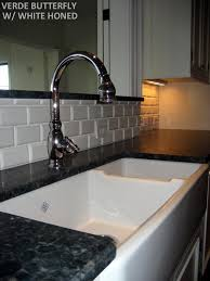 2x4 Subway Tile Backsplash by This Backsplash Is A Ceramic Tile It Is A 2x4 White Porcelain