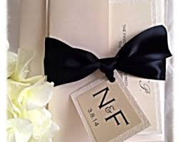 black tie party favors black tie wedding etsy