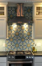 our square tangier and atmosphere hex handmade cement tile blend
