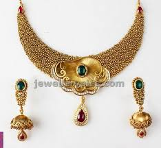 jewelry necklace design images Latest indian gold and diamond jewellery designs pearl necklace jpg