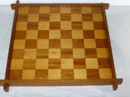 Chess Table 1930 U0027s Checker Chess Board Inlaid Hardwood Staunton Chess