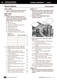 charles dickens activity worksheets chapters 1 12 7th 8th grade