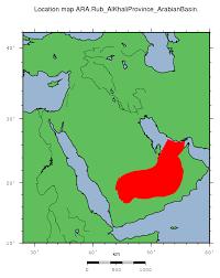 rub al khali map ara rub al khali province arabian basin