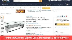 48 inch sandwich prep table used 48 refrigerated countertop sandwich preparation pizza prep table