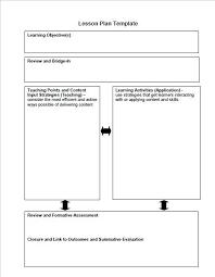 weekly lesson plan template cvresume unicloud pl