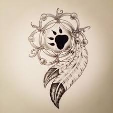 wolf skull flower greyscale paint