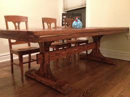 Farmhouse Dining Room Table Plans by Ana White Double Pedestal Farmhouse Table 8 Feet Diy Projects