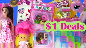 1 dollar tree haul doll kawaii food erasers