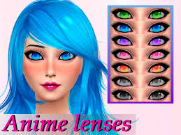 sims 4 blue hair 7 colors found in tsr category sims 4 female costume makeup sims