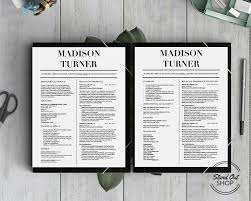 Resume Template For Pages Madison Turner Resume Template Stand Out Shop