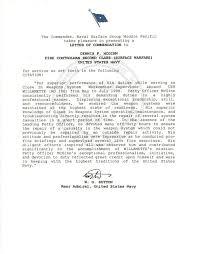 Letter Of Commendation Dennispmcginn Com Commemorating 21 Years Of Naval Service