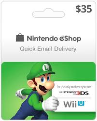 nintendo gift card 35 usa nintendo eshop for wii u and 3ds instant email delivery