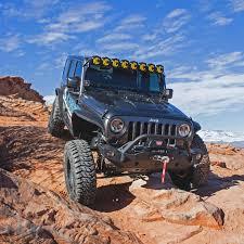 light blue jeep kc hilites gravity led pro6 07 18 jeep jk 8 light combo led