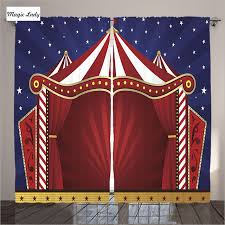 Circus Home Decor Curtains Blue Circus Home Decor Collection Canvas Tent Stage