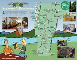 Map Vermont Vermont Brewery Map Hanover U0026 Lebanon Nh And Quechee Vt 2015