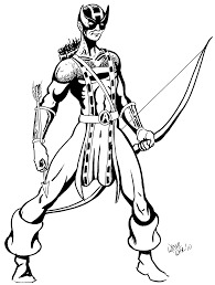 avengers hawkeye coloring page with coloring pages eson me