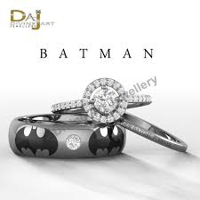 batman wedding ring batman inspired holy smokes womens engagement by dfinejewelry on