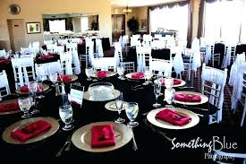 black and white table settings red black and white table settings black white table settings