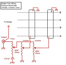 fender precision bass pickup wiring diagram ewiring