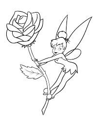 tinkerbell coloring pages free printable kids disney book