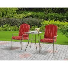 Walmart Mainstays Patio Set Mainstays Warner Heights 3 Piece Outdoor Bistro Set Red Seats 2