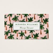 palm tree pattern business cards templates zazzle
