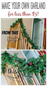 make your own garland for less than 5 garlands walmart and