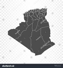 Algeria On Map Algeria Map Isolated On Transparent Background Stock Vector