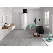 Floor And More Decor Helsinki Gray Wood Plank Porcelain Tile 8in X 48in 100198639