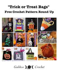 halloween bags for trick or treating trick or treat bags u2013 free crochet pattern round up u2013 goddess crochet